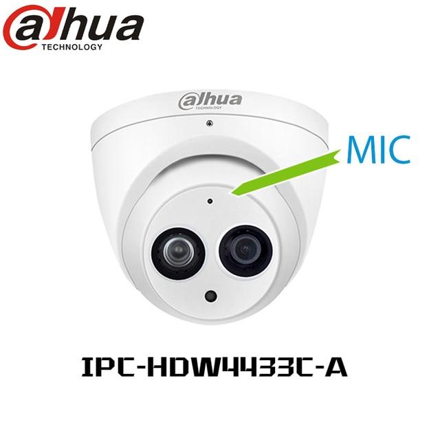 Dahua  IPC-HDW4631C-A  6MP POE H.265 Dome IP Camera Built-in mic IPC-HDW4433C-A 4MP IR security cctv Dome Camera onvif PFB203W