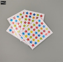 10 folhas adesivo estrela colorida auto adesivo removível brilho recompensas etiquetas engraçadas para o professor incentivar os alunos crianças