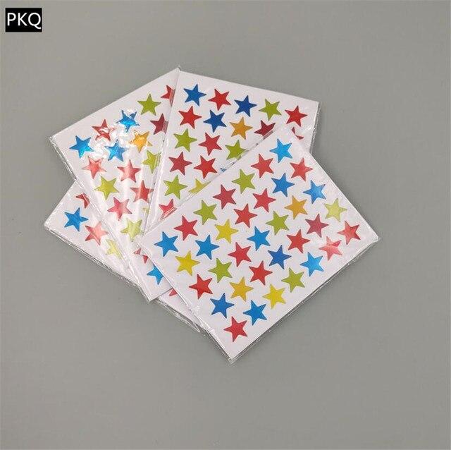 Autocollants auto adhésifs étoile colorée, autocollants récompenses, autocollants amusants, pour papeterie denseignant, 10 feuilles/sachet, 15 sachets