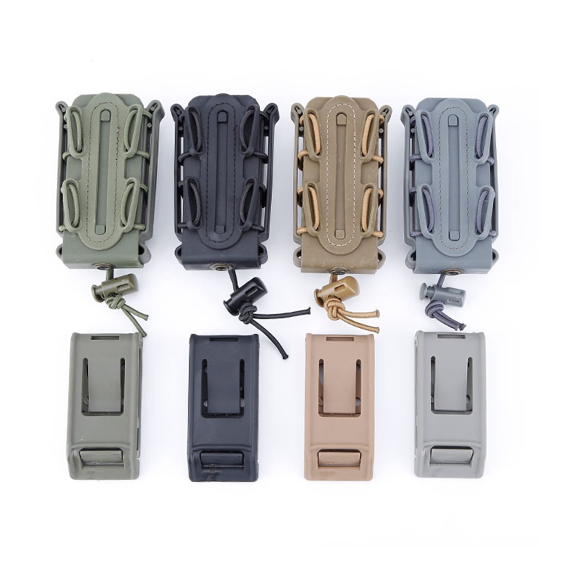 Tactical Molle Waist Belt Magazine Pouches 9mm Military Shooting Mag Pouch Outdoor Hunting CS Pistol Rifle Magazine Pouch