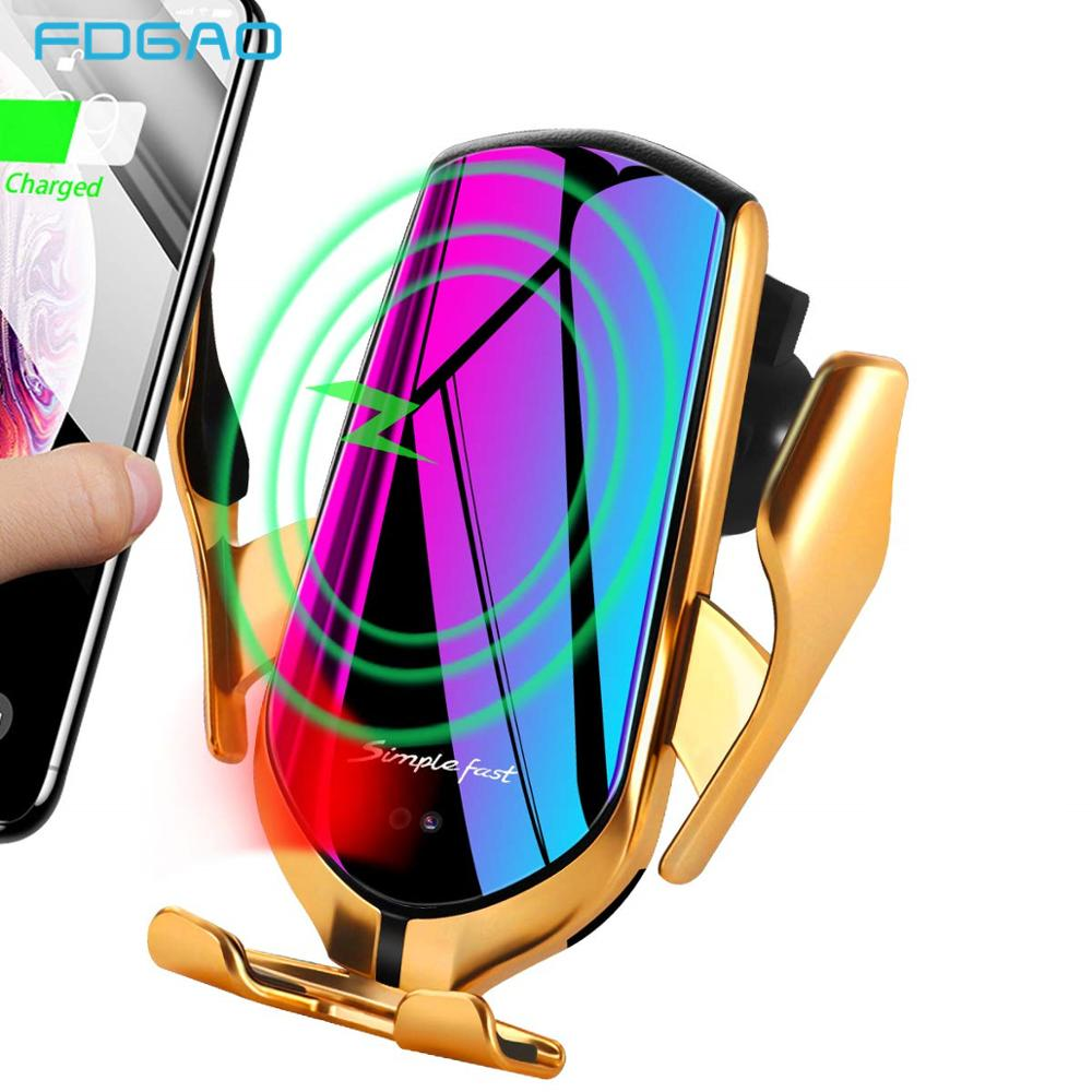 Automatic Clamping 10W Qi Car Wireless Charger Infrared Sensor Fast Charging Phone Holder For IPhone 11 XS XR X 8 Samsung S10 S9