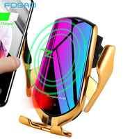 Automatische Spann 10W Qi Auto Drahtlose Ladegerät Infrarot Sensor Schnelle Lade Telefon Halter Für iPhone XS XR X 8 samsung S10 S9 S8