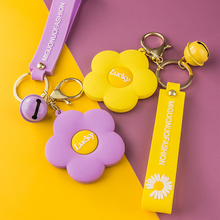 Keychain Lanyard-Accessory Bell Pendant-Bag Jewelry Car-Key-Ring Daisy Gift Lucky-Flower