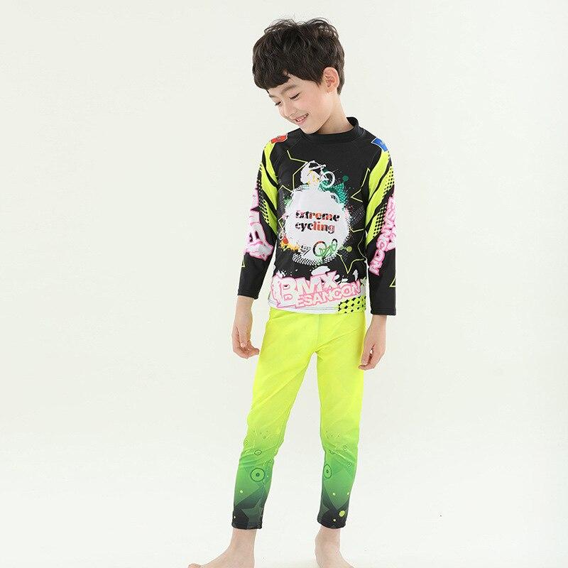 2019 New Style KID'S Swimwear Boy Split Swimsuit Sporty CHILDREN'S Swimwear Sun-resistant KID'S Swimwear