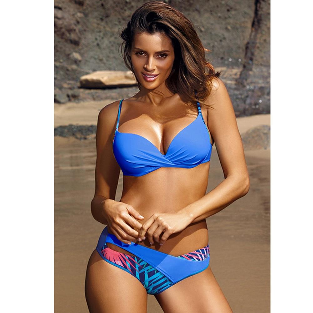2020 Sexy Bikini Swimwear Women Push Up Swimsuit Bikini Set Brazilian Summer Cut Out Beach Bathing Suits female Biquini Print 4