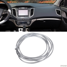купить 3mx6mm Chrome Trim Strip Bumper Air Vent Grille Switch Rim Moulding U Style дешево