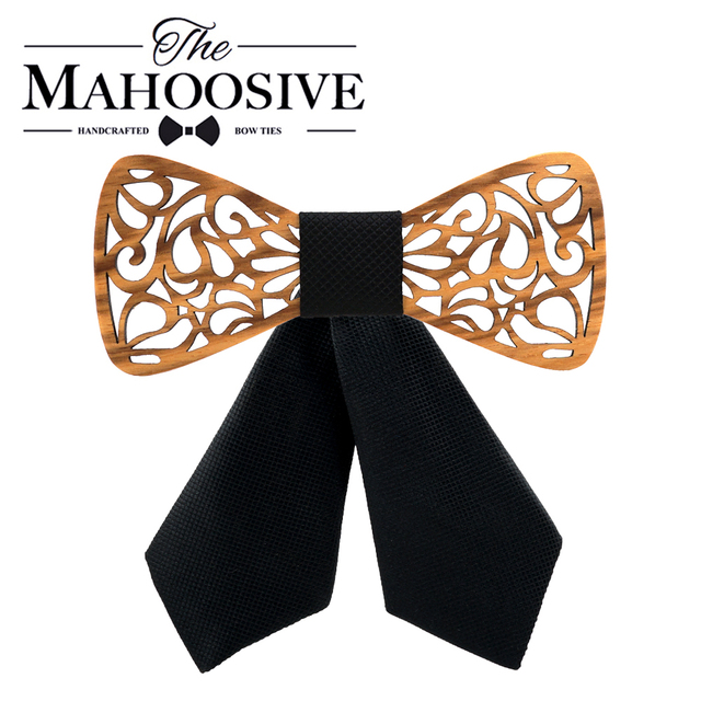 Girl's Carved Wooden Bow Tie 1