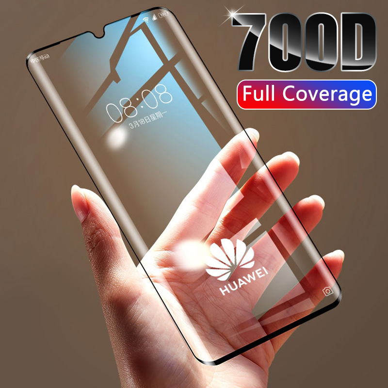 700D Full Cover Tempered Protective Glass On For Huawei P30 P20 Lite Pro Screen Protector For P Smart 2019 Honor 8x 10 20 Film
