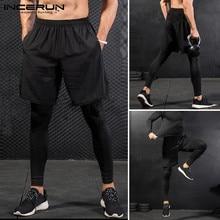 INCERUN мужские спорт бег брюки брюки мужчины бегунов тренировочные брюки баскетбол фитнес танец тренировки тренажерный зал бег мужской размер 5XL