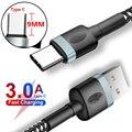 Кабель USB Type-C длиной 9 мм для быстрой зарядки Blackview BV9800 BV9700 BV9100 BV6300 A80 Pro BV9500 Plus, 0,3 м/1 м/1,5 м/2 м, 3 А