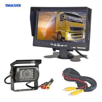 "SMALUCK 7"" HD TFT LCD Car Monitor Display Reverse Rear View Monitor Screen Rear View Car Camera Remote Control"