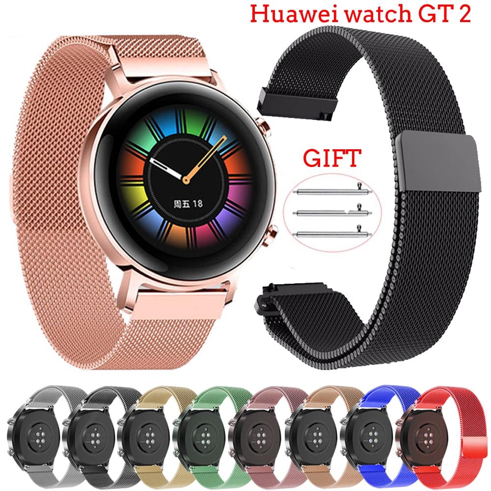 Huawei Watch GT 2 Strap For Huawei Watch Gt2 44mm 42mm 20mm 22mm Watch Band Milanese Loop Wrist Bracelet Watch Gt 2 Gt2 Band