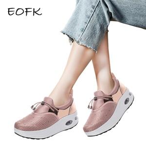 EOFK Women Flat Platform Loafe