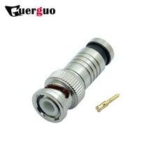 100PCS BNC Male Plug Compression Connector for Coax RG59/RG6 Cable CCTV Camera