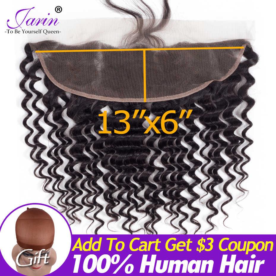 13*6 кружева спереди глубокая волна кружева спереди al 100% человеческие волосы для черных женщин перуанские прямые волосы натуральный черный жарин