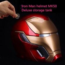 Стиль Deluxe Edition Железный человек креативный MK50 Большой шлем монета банкноты Копилка украшение подарок на день рождения на праздник AG795