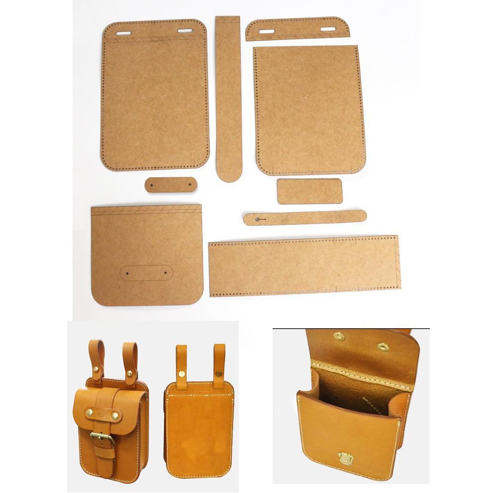Diy Leather Kraft Waist Sewing Pattern For Pocket Holder Diy Handmade Craft Size 20x13x6cm