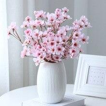 Nachahmung Kleine Pfirsich Blossom Silk Blume Unrequited Liebhaber Pfirsich Blossom Baum Hochzeit Geburtstag Hause Wohnzimmer Tisch Dekoration
