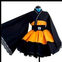 Free Shipping Naruto Shippuden Uzumaki Female Lolita Kimono Dress Anime Cosplay Costume/Cosplay