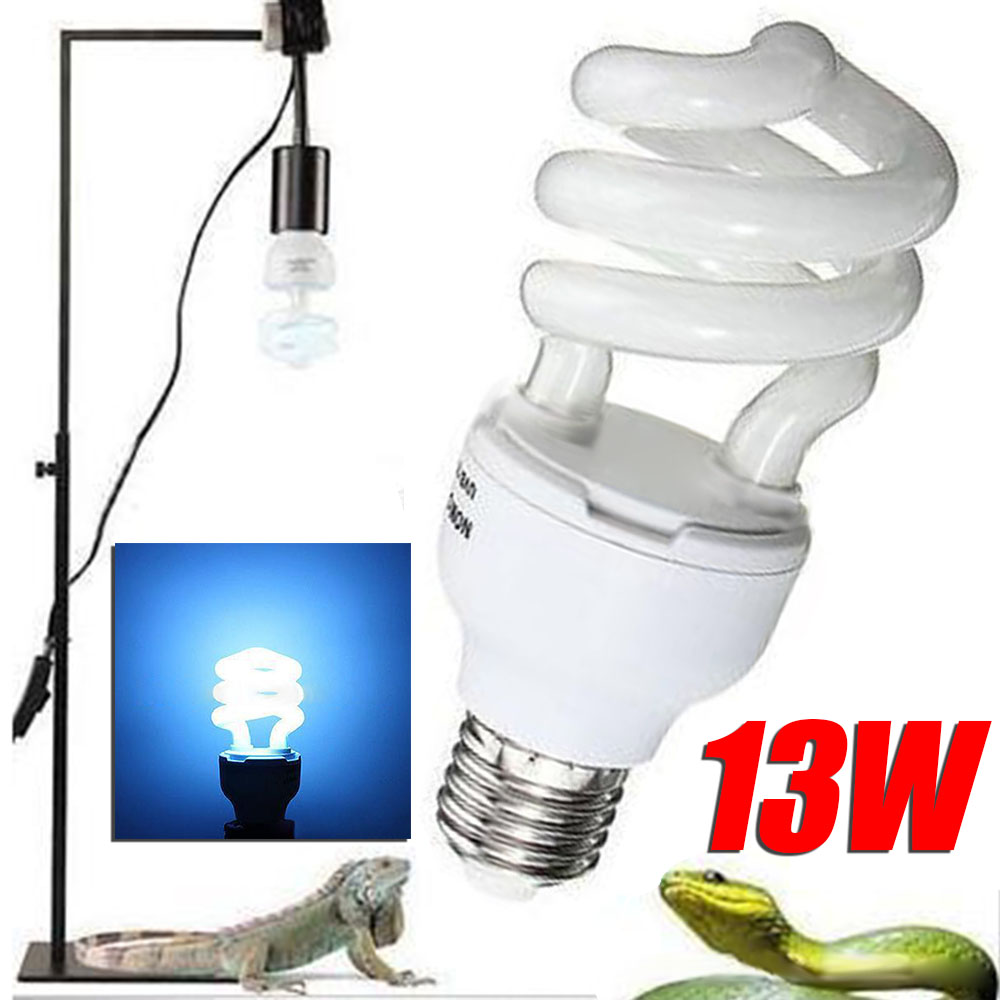 5.0/10.0 UVB 13W Reptile Light Bulb Lamp Reptile Tortoise Turtle Snake Lamp Bulb  E27 Pet Heating Light Bulb