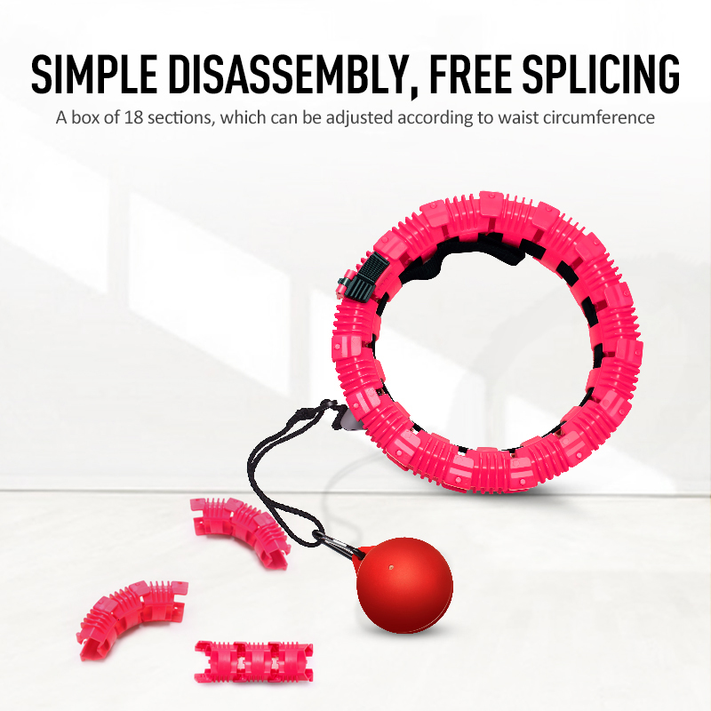 Removable Never Fall Flexible Rotation Wheel Massage Anti-fall Wear-resistant Quickly Lose Weight Portable Hula Ring