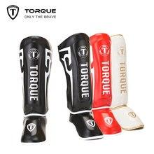 TORQUE Boxing Shin Guards Kids PU Leather Equipment Karate Ankle Protectors Sanda Muay Thai Legging Taekwondo Martial Arts