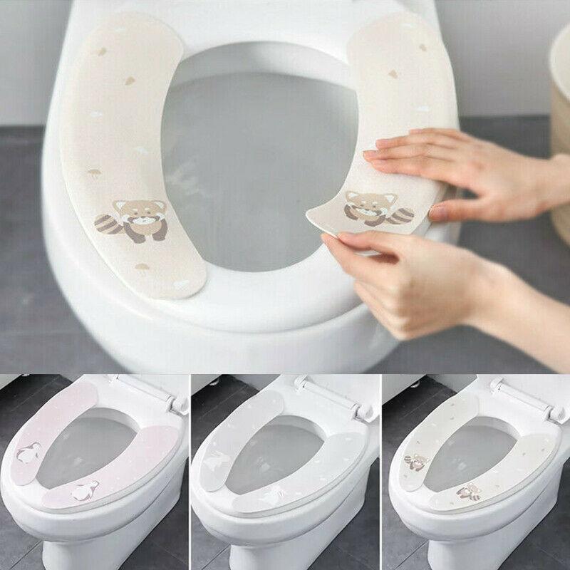 2X Bathroom Toilet Seat Cushion Closestool Washable Soft Warmer Toilet Mat Pad