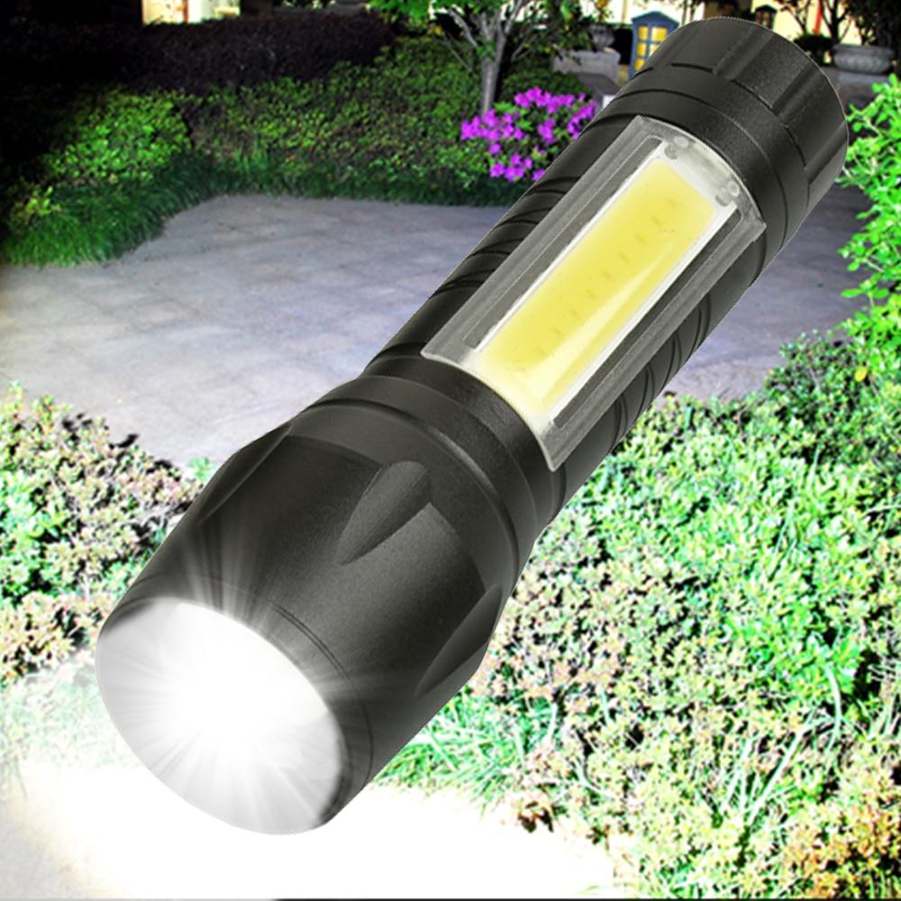 8000 لومينز COB مصباح ليد جيب السوبر مشرق للماء يده مشاعل الشعلة فانوس العمل ضوء للإضاءة الطوارئمصابيح يدوية LED   -