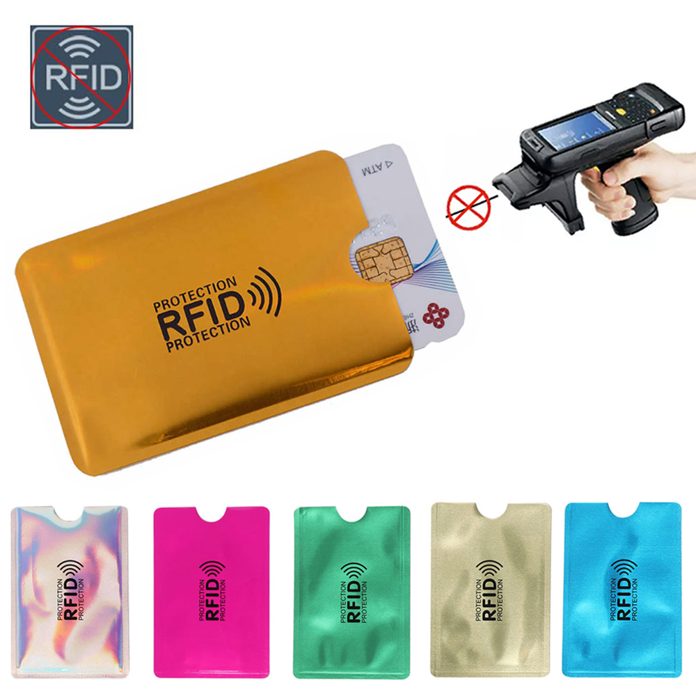 20 pcs Anti Thief RFID Blocking Reader Lock Bank Credit Card Holder Protection