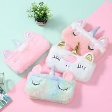 8 pcs/lot Rainbow Pink Girl Unicorn Pencil Case Stationery Storage Bag Escalar Papelaria Escolar School Supplies