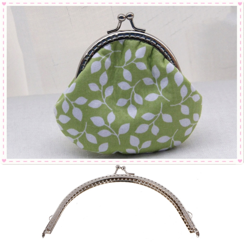 1PC Metal Frame Kiss Clasp Arch DIY Craft For Purse Bag Silver Tone 15cm