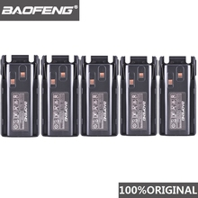 5 pièces dorigine nouveau Baofeng UV 82 UV 8D talkie walkie 10km Li ion batterie 2800mAh BL 8 pour UV 8D UV 82 CB Radio Pofung UV82 UV8D