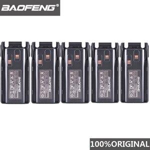 Image 1 - 5 pièces dorigine nouveau Baofeng UV 82 UV 8D talkie walkie 10km Li ion batterie 2800mAh BL 8 pour UV 8D UV 82 CB Radio Pofung UV82 UV8D