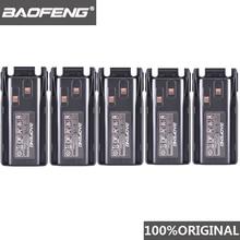 5pcs 원래 새로운 Baofeng UV 82 UV 8D 워키 토키 10km 리튬 이온 배터리 2800mAh BL 8 UV 8D UV 82 CB 라디오 Pofung UV82 UV8D