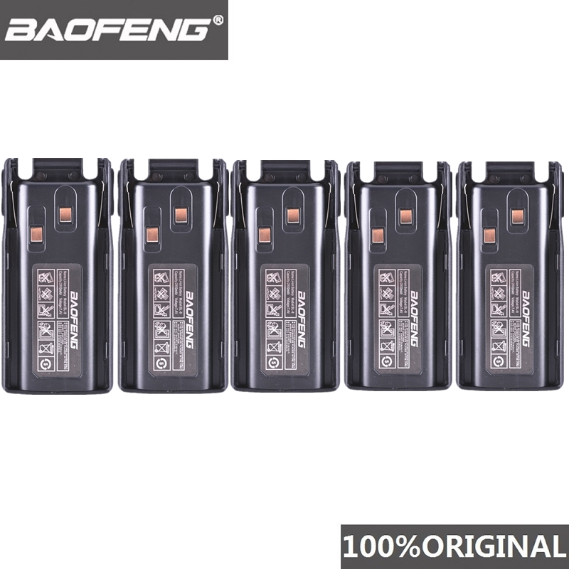 5pcs Original New Baofeng UV-82 UV-8D Walkie Talkie 10km Li-ion Battery 2800mAh BL-8 For UV 8D UV 82 CB Radio Pofung UV82 UV8D