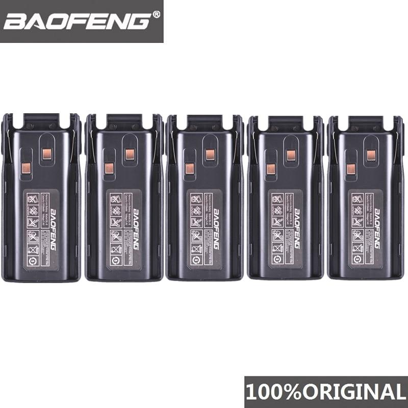 5pcs Original New Baofeng UV-82 UV-8D Walkie Talkie 10km Li-ion Battery 2800mAh BL-8 For UV 8D UV 82 CB Radio Pofung UV82 UV8D