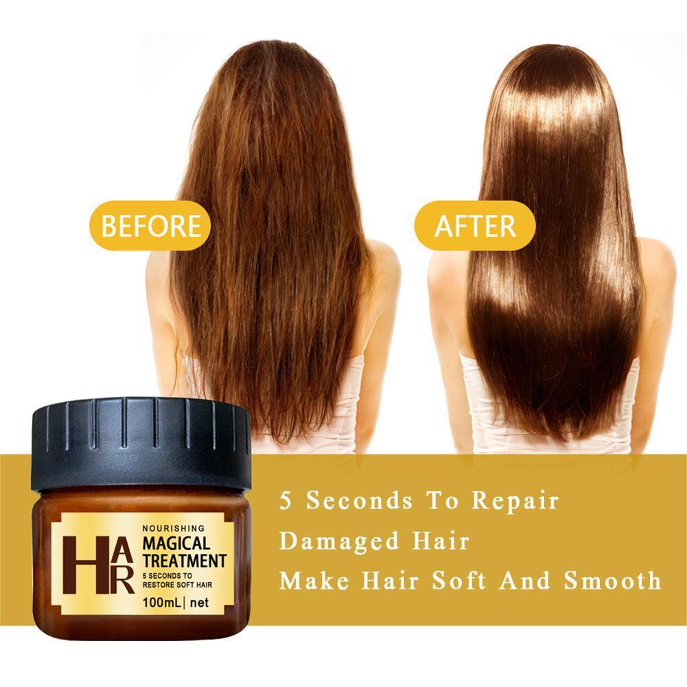 100ml Magical Keratin Hair Treatment Mask 5 Seconds Repair Damage Hair Root Hair Tonic Keratin Hair Scalp Treatment in Conditioners from Beauty Health