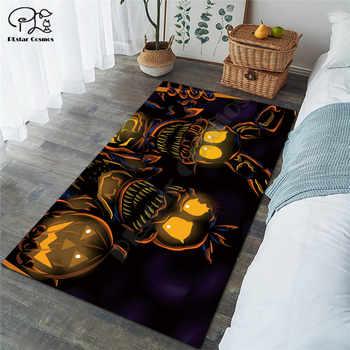 Happy halloween pumpkin carpet Square Anti-Skid Area Floor Mat 3D Rug Non-slip Mat Dining Room Living Room Soft Bedroom Carpet