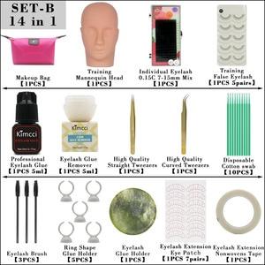 Image 2 - Kimcci False Eyelash Extension Training Kit Exercise Practice Mannequin Head Set Grafting Eyelash Tools Kit Eye Lashes Grafting