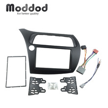 Para Honda Civic doble Din Fascia Radio DVD estéreo CD Panel de montaje Kit de ajuste marco frontal bisel con cable Harne