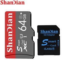 A expansão cinzenta 8gb 16gb 32gb 64gb 128gb da capacidade da memória da câmera de digitas do cartão do sd de shandian o presente livre vem com o cartão do sd adapta-se