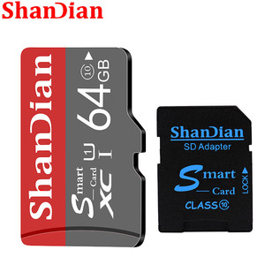 SHANDIAN Gray Micro SD Card Digital camera Memory Capacity Expansion 8GB 16GB 32GB 64GB 128GB Free gift Comes with SD Card Adapt