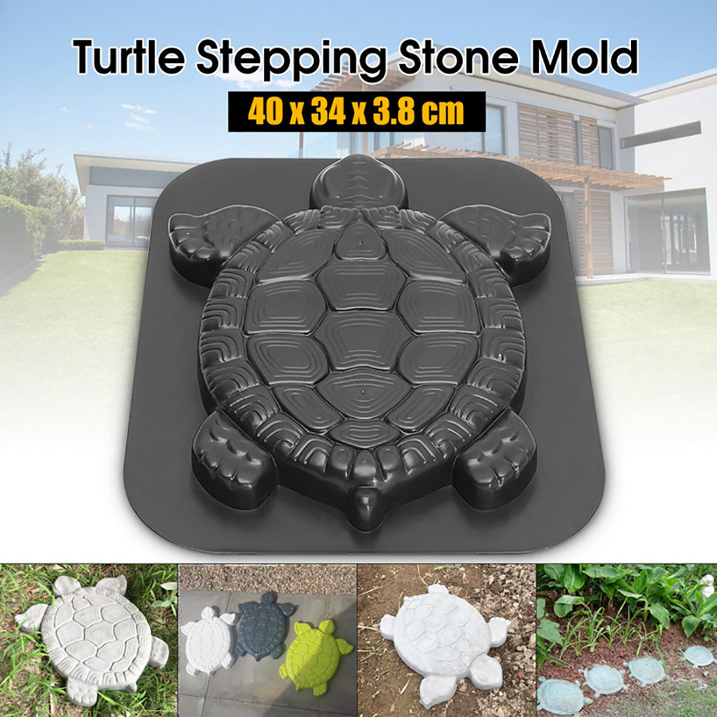 Turtle Butterfly Plastic Path Mold Manually Concrete Cement Stepping Stone Mould Road Making Tool Paving Molds Garden Decor^35