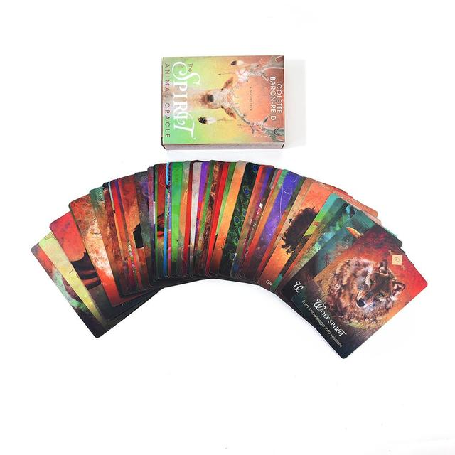 68PCS Tarot Cards Deck Tarot Card For The Spirit Animal Oracle Guidance Divination Fate Board Game For Party Playing Card Games 3