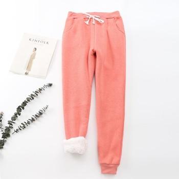BEFORW 2019 Winter Women Pant Thick Lambskin Cashmere Pants Warm Female Casual Pants Loose Harlan Pants Long Trousers Plus Size 3