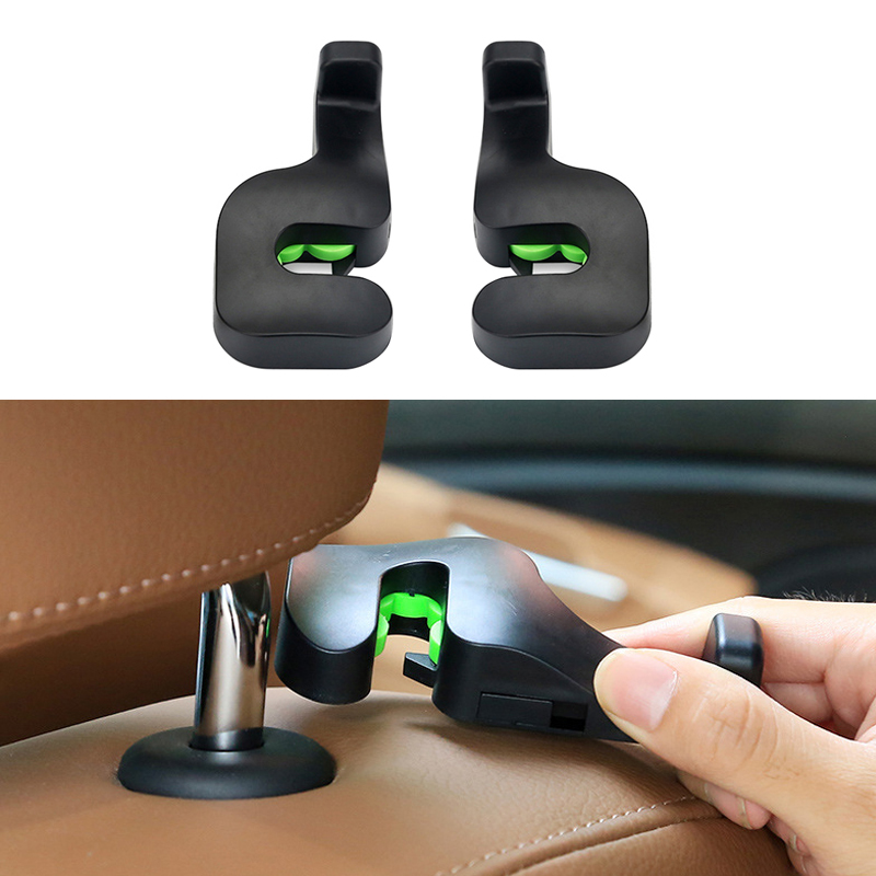 2 PCS Car Seat Headrest Hanger Bag Hook Holder Auto Fastener Clip Car Seat Hook Easy Install