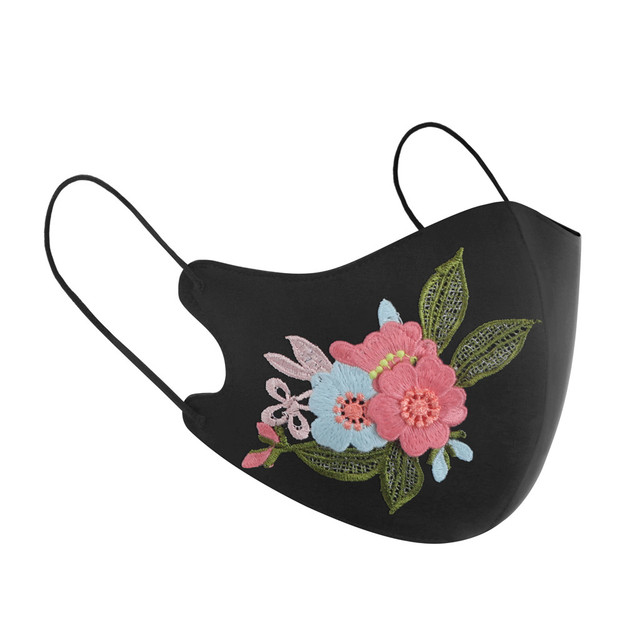 Rose flower Protective Mask Women Dust Sand Exhaust Sunscreen Face Mask Breathable Cycling Maskes Anti-flu masque de protection