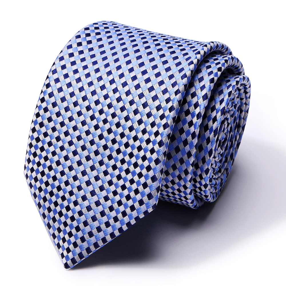 New Blue Stripe Ties For Men 100% Silk Ties For Men Necktie Business Mens Red Stripe Dot Necktie Luxury Wedding