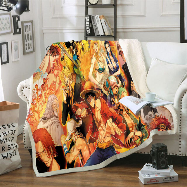 3D ONE PIECE THEMED BLANKET (18 VARIAN)