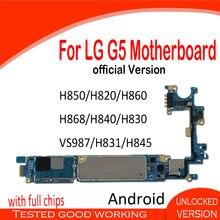 Sbloccato per LG G5 scheda madre H850 H820 H860 H868 H840 H830 VS987 H831 H845 scheda madre con il circuito integrato Originale Android Installato